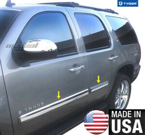 Tyger Fits 2007 2008 Chevy Tahoe Body Side Molding Trim 3 5 Full Width 4pc