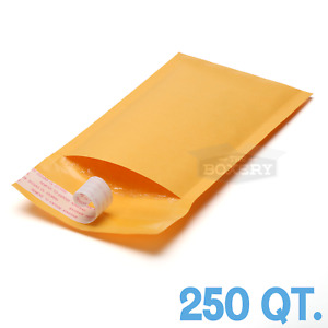 250 00 5x10 Kraft Bubble Mailers Padded Mailing Envelope From Theboxery