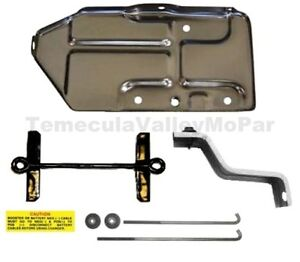 Battery Tray Hold Down Set For 1970 Mopar B Body