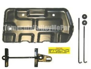 Battery Tray Hold Down Set For 1973 1974 Mopar B Body
