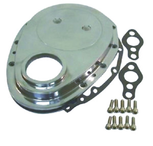 Chrome Aluminum Sbc Chevy V8 Timing Chain Cover Kit