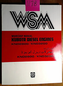 Kubota Knd2800 Knd3200 Diesel Engine Workshop Manual 07909 70104 1 7 84