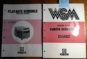Kubota G5500s Generator Workshop Manual 07909 60149 3 9 88 Flat rate 9 88