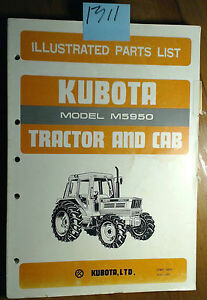 Kubota M5950 Tractor Cab Illustrated Parts List Manual 07909 52670 8 85