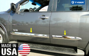Tyger For 04 10 Nissan Armada Body Side Moulding Trim 3 Wide 4pc
