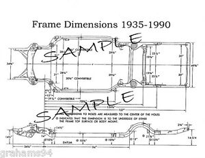 1966 Ford Bronco Econoline Nos Frame Dimensions Front Wheel Alignment Specs