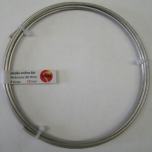 Nichrome 80 Resistance Wire 8 Awg gauge 10 Feet