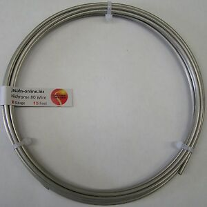 Nichrome 80 Resistance Wire 8 Awg gauge 15 Feet