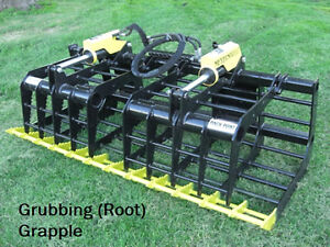 72 Skid Steer Root Grapple Attachment Skid Loader Bucket Grapple Dual Cyl