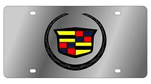 New Cadillac Logo Stainless Steel License Plate