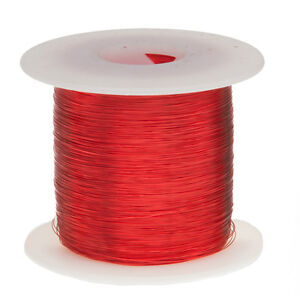 32 Awg Gauge Enameled Copper Magnet Wire 1 0 Lbs 5003 Length 0 0087 155c Red