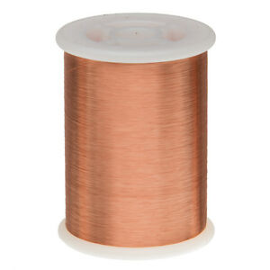 44 Awg Gauge Enameled Copper Magnet Wire 1 0 Lbs 79798 Length 0 0022 155c Nat