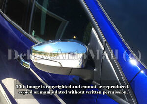 Chrome Mirror Covers W Turn Siganl Cut Outs 2012 16 Ford Focus 2013 16 Escape