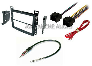 Complete Saturn Double Din Car Stereo Radio Dash Install Kit W Wire Harness Set