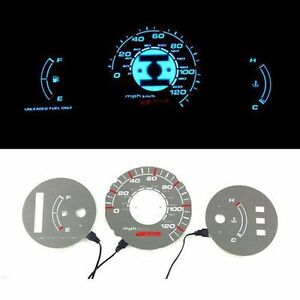 Bar Autotech Tach El Glow Gauge Indiglo Dash Face For Honda Civic Dx 92 95 At