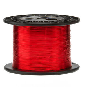26 Awg Gauge Enameled Copper Magnet Wire 5 0 Lbs 6400 Length 0 0168 155c Red
