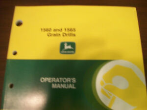 John Deere Tractor Operator s Manual 1560 And 1565 Grain Drills Issue E0