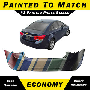 New Painted To Match Rear Bumper Cover For 2011 2015 Chevy Chevrolet Cruze