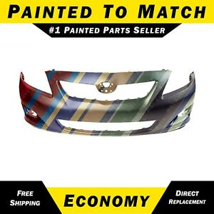 New Painted To Match Front Bumper Cover Replacement For 2009 2010 Toyota Corolla