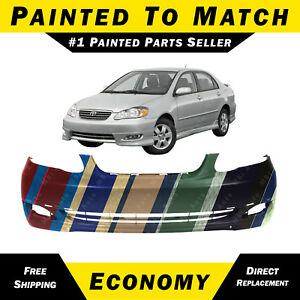 New Painted To Match Front Bumper Cover For 2005 2008 Toyota Corolla S