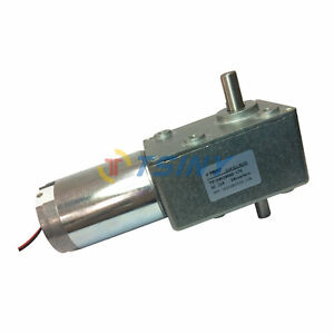 Electric 12vdc 28rpm High Torque Dc Turbo Worm Geared Box Motor With Dual Shaft