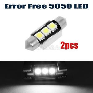 2x36mm 3 Smd White 6411 6418 Canbus For Mercedes Benz License Plate Led Lights