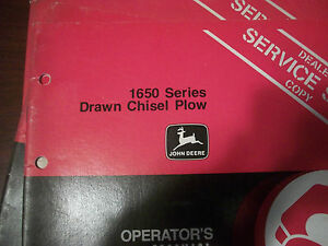 John Deere Operator s Manual 1650 Series Drawn Chisel Plow Issue L8