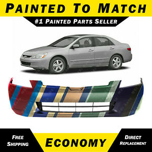 New Painted To Match Front Bumper Cover Replacement For 2003 2005 Honda Accord