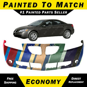 New Painted To Match Front Bumper Cover Fascia For 2005 2009 Pontiac G6 19120467