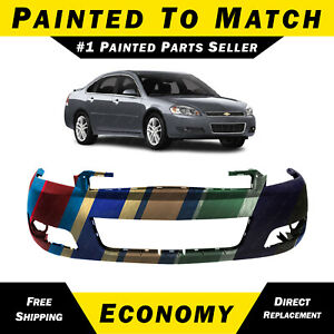 New Painted To Match Front Bumper Cover Fascia 2006 2013 Chevy Impala With Fog