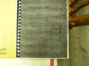 Mitsubishi Mt670 bison Tractor Parts Manual