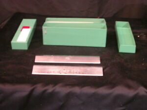 Lot Of 2 Lipshaw Microtome Knife Blade 185mm L X 31 Mm H Green Box 1