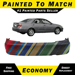New Painted To Match Rear Bumper Cover For 2002 2006 Toyota Camry Se Le Xle Base