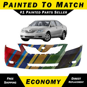New Painted To Match Front Bumper Cover Fascia For 2007 2008 2009 Toyota Camry