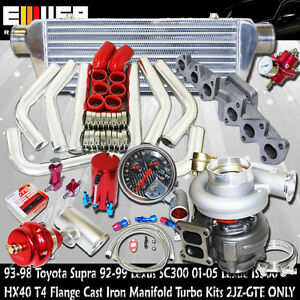 Hx40 Turbo Kit For 93 98 Toyota Supra Base Hatchback 2d 3 0l 2997cc Dohc 2jz gte