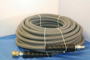 100 Gray Non marking Pressure Washer Hose 3 8 X 100 Ft 4000 Psi Cold Water