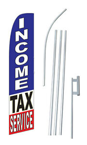 Income Tax Service 15 Swooper Flag Starter Kit Bow Feather Blade Banner Sign