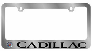 New Cadillac Logo word License Plate Frame