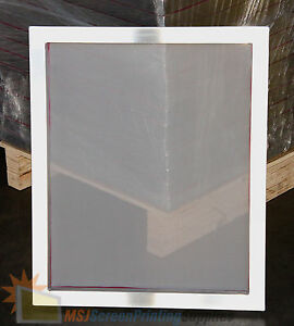 2 pack 20 x24 Aluminum Screen Printing Frames 60 White Mesh Pre stretched
