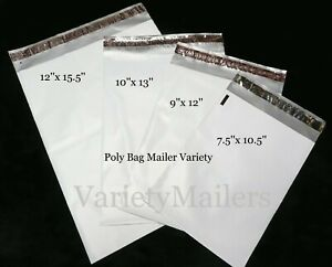 20 Poly Bag Mailer Variety Pack 4 Size Sm To Lrg Shipping Bag Assortment