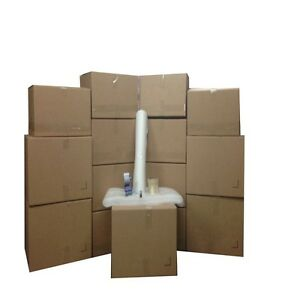 Bigger Moving Box Kit 15 Boxes 5 Large 10 Medium Plus Supplies Included