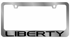 New Jeep Liberty Word License Plate Frame