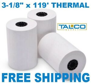 50 Fd 100 3 1 8 X 119 Thermal Receipt Paper Rolls free Priority Shipping