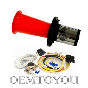 Ooga Air Horn Classic 12 Volt W Button Relay Installation Kit Car Van Auto Boat