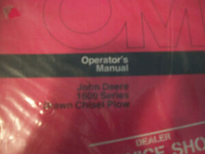John Deere Operator s Manual 1600 Series Drawn Chisel Plow Issue C7