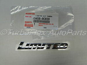 Toyota Tundra 2007 2013 Limited Pillar Roof Side Emblem Genuine Oem 75458 0c020