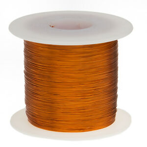 24 Awg Gauge Enameled Copper Magnet Wire 1 0 Lbs 790 Length 0 0220 200c Nat