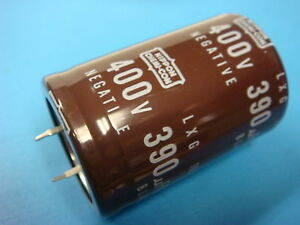 1 390uf 400v 105 c Lxg400vn391m35x50t2 Snap in Extended Life Large Capacitor