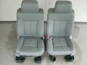 Ford F 150 Supercab Gray Leather Front Seats