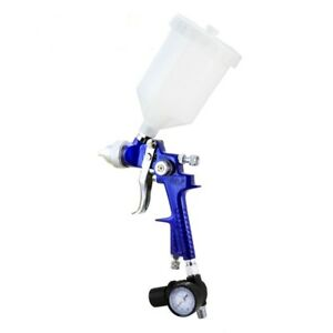 Hvlp Gravity Feed Spray Paint Gun W Gauge Regulator 1 7mm Nozzle Auto Body